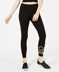 Calvin Klein Performance Stacked-Logo High-Rise Leggings