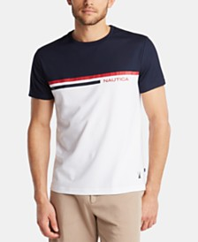 Nautica Men's Logo Stripe T-Shirt, Created for Macy's