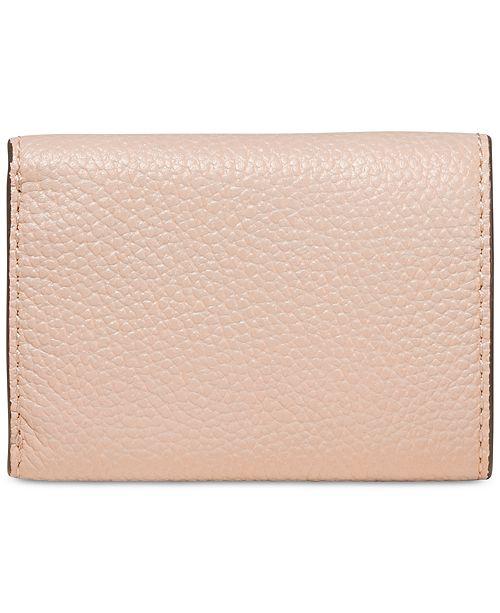 d82eec902d55 Michael Kors Pebble Leather Trifold Flap Wallet & Reviews - Handbags ...