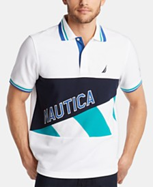 Nautica Men's Pieced Logo Polo