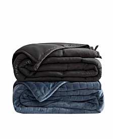 Dreamtheory Microfiber Weighted Blanket with Minky Duvet Cover Collection