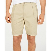 Macys deals on Club Room Men's Double-Pleated 9-inch Shorts