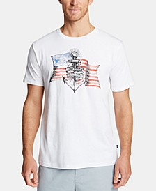 Men's Flag Cotton Graphic T-Shirt, Created for Macy's