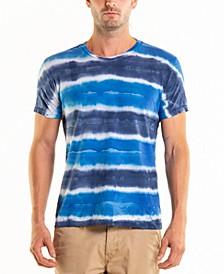 South Sea Stripe Tie Dye Crewneck Tee