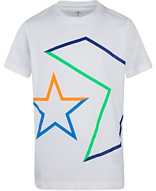 Converse Big Boys Outlined Star Chevron Logo T-Shirt