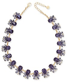 "Charter Club Gold-Tone Purple Crystal All-Around Necklace, 17"" + 2"" extender, Created for Macy's"