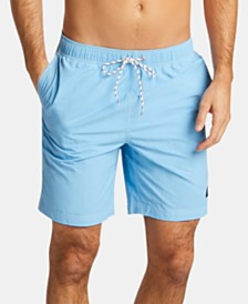 "Nautica Men's 8"" Solid Swim Trunks"