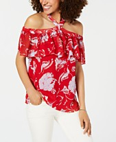 ac4fb76c Tommy Hilfiger Printed Flounce Top, Created for Macy's