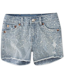Levi's® Big Girls Bleach Splatter Denim Shorts