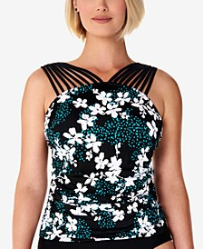 Printed Strappy Underwire Tankini Top, Created for Macy's