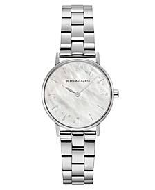 Ladies Round Stainless Steel Bracelet Watch, 32mm