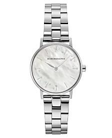 BCBGMAXAZRIA Ladies Round Stainless Steel Bracelet Watch, 32mm