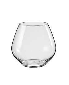 Red Vanilla Amoroso Stemless Red Wine Glass 19.5 Oz Set of 2