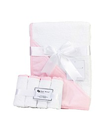 3 Stories Trading Hooded Baby Towel with Wash Cloth Bundle