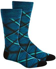 Perry Ellis Men's Plaid Socks