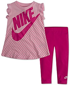 Baby Girls 2-Pc. Printed Dress & Leggings Set