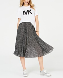 MICHAEL Michael Kors Studded Top & Logo Midi Skirt