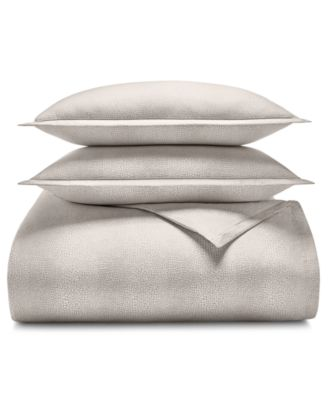 Sleep Luxe Cotton 800-Thread Count 2-Pc. Printed Pebble Twin Duvet Cover Set, Created for Macy's