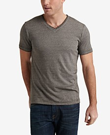 Men's Burnout V-Neck T-Shirt