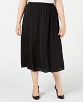 efc483dcaa1 Alfani Plus Size Washed-Satin A-Line Skirt