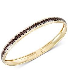 Leopard Print Bangle Bracelet in 18k Gold-Plated Sterling Silver