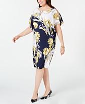 0fc4406d42c JM Collection Plus Size Embellished Printed Shift Dress