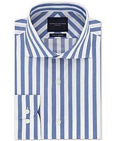 Men's Slim-Fit Non-Iron THFlex Supima® Stretch Bold Stripe Dress Shirt