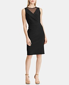 Lauren Ralph Lauren Petite Mesh-Trim Jersey Dress