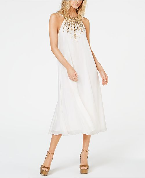 Rachel Zoe Sabrina Embellished Midi Dress