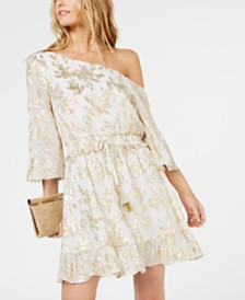 Rachel Zoe Flora One-Shoulder Mini Dress