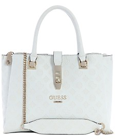 GUESS Peony Debossed Logo Girlfriend Satchel