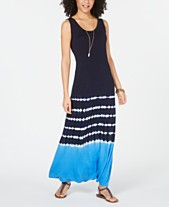0e11138ad5b Style   Co Colorblocked Sleeveless Maxi Dress