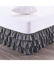 Sweet Home Collection Waterfall 3-Layer Ruffled King Bedskirt