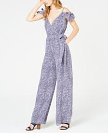MICHAEL Michael Kors Mini Ikat Cold-Shoulder Jumpsuit