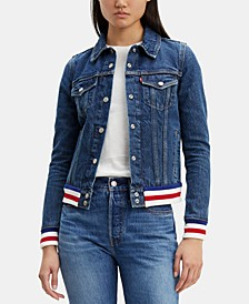 Women's Contrast Denim Trucker Jacket