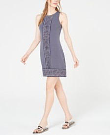 MICHAEL Michael Kors Border-Print Sleeveless Dress, In Regular & Petite