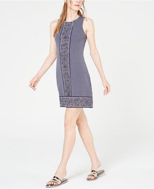 Michael Kors Border-Print Sleeveless Dress, In Regular & Petite