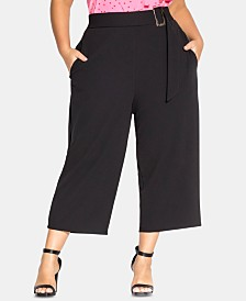 City Chic Trendy Plus Size Wide-Leg Culottes