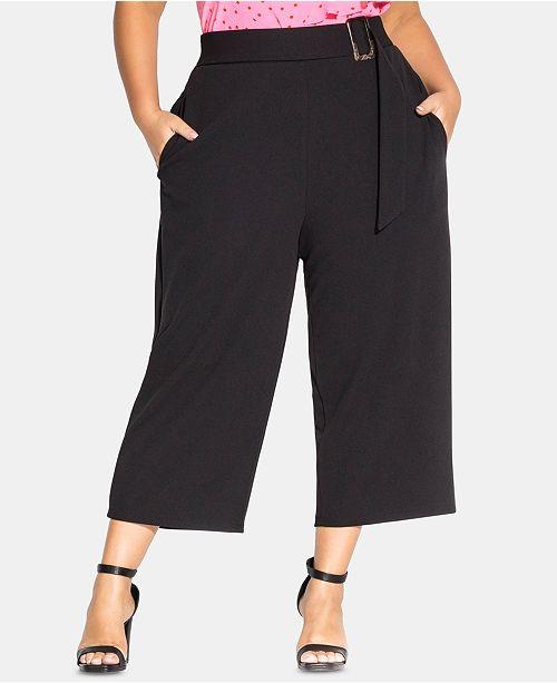 City Chic Trendy Plus Size Wide-Leg Culottes