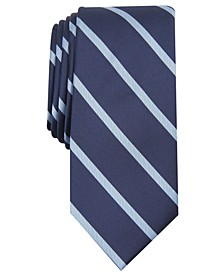 INC Men's Stripe & Coiled Snake Skinny Tie