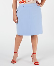 Bar III Plus Size A-Line Skirt, Created for Macy's
