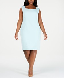 Kasper Plus Size Sweetheart Sheath Dress