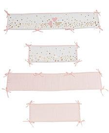 Lambs & Ivy Confetti Hearts 4-Piece Baby Crib Bumper