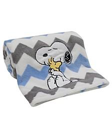 My Little Snoopy™ Chevron Baby Blanket