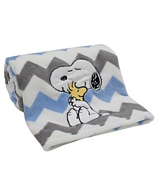 Lambs & Ivy My Little Snoopy™ Chevron Baby Blanket