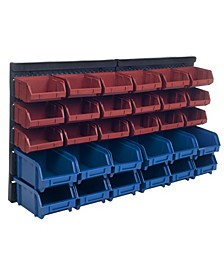 Storage Drawers - 30 Compartment Wall Mount organizer Bins - Easy Access Compartments by Stalwart