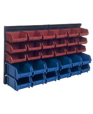 Trademark Global Storage Drawers - 30 Compartment Wall Mount organizer Bins - Easy Access Compartments by Stalwart