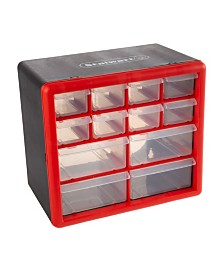 Trademark Global 12 Compartment Storage Drawers Organizer Desktop or Wall Mount Container by Stalwart