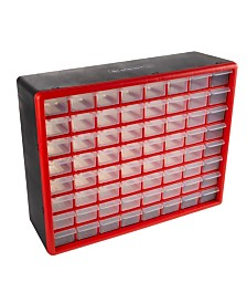 Trademark Global Storage Drawers - 64 Compartment organizer Desktop or Wall Mountable Container by Stalwart