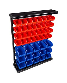 Trademark Global 47 Bin Storage Rack organizer - Wall Mountable Container with Removable Drawers by Stalwart